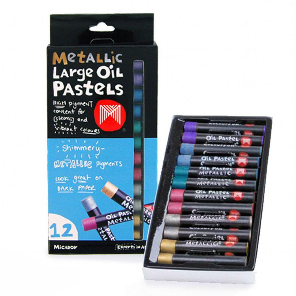 澳洲 Micador - 金屬色油蠟筆-6色-12支入