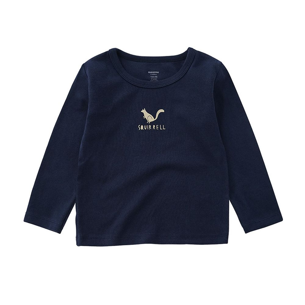 Minizone - 可愛動物長袖T恤-藍色