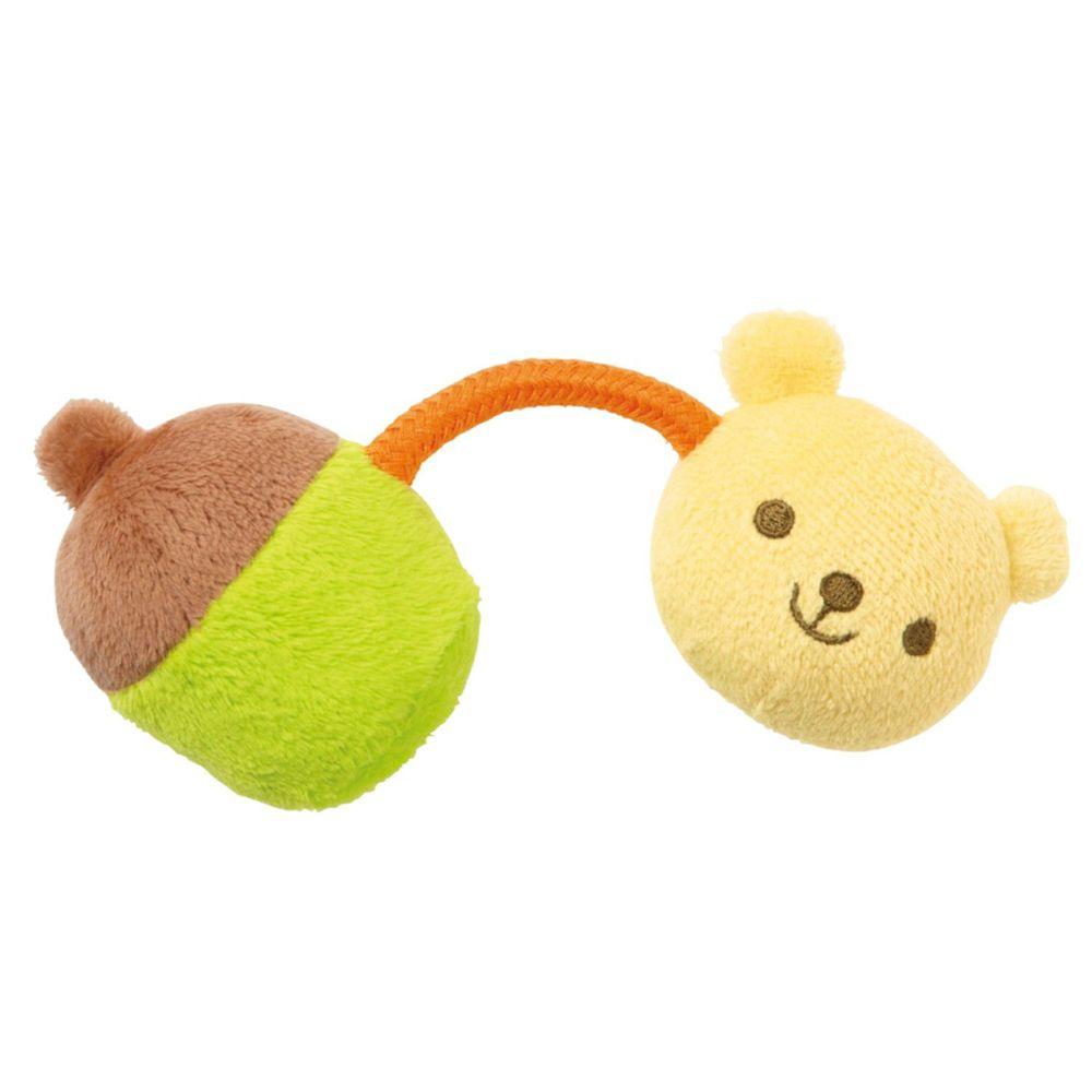 日本 Combi - 小熊手搖鈴絨布玩具-3個月以上