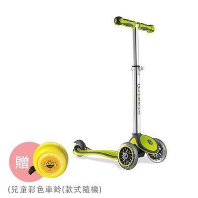 Globber哥輪步 兒童2合1三輪滑板車-綠色-【媽咪愛獨家送】兒童彩色車鈴(款式隨機送完為止)