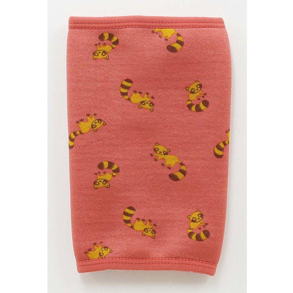 日本丸和 - 雙層機能裏起毛保暖襪套-小浣熊-粉 (13x20cm)