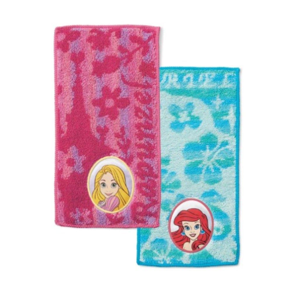 日本代購 - 長方形小手帕/毛巾兩入組-長髮公主X小美人魚 (10×20cm)