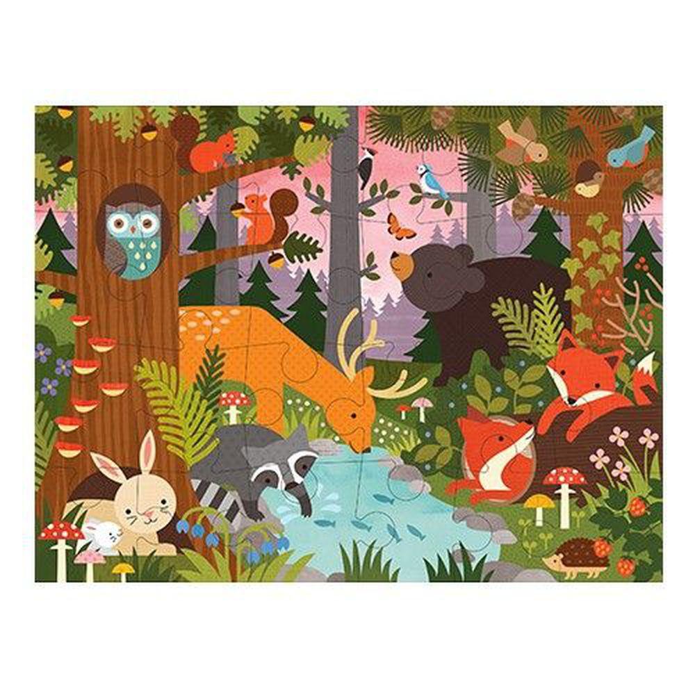 美國 Petit Collage - 地板拼圖-童話森林-24片