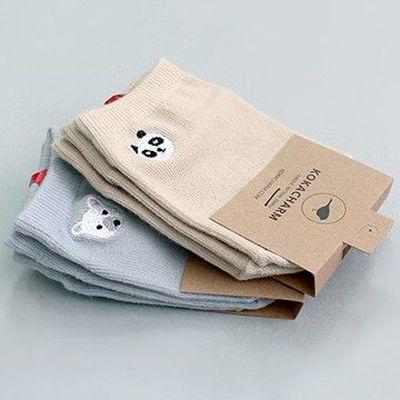 韓國製船型襪-2+1件組-Panda & Bear