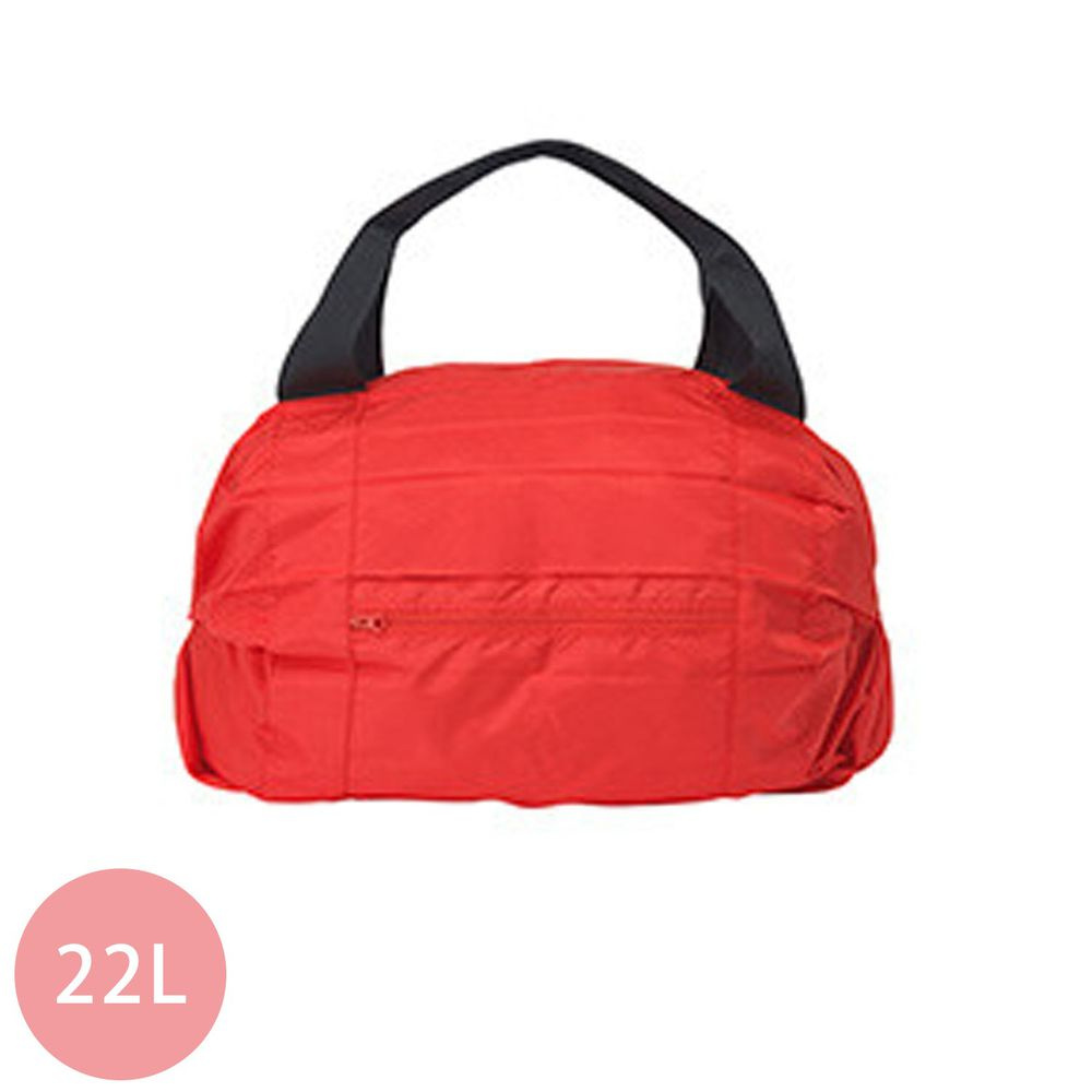 日本 MARNA - Shupatto 秒收摺疊防潑水旅行袋(可掛行李箱手把)-熱情紅 (46x35x17cm)-耐重15kg / 22L