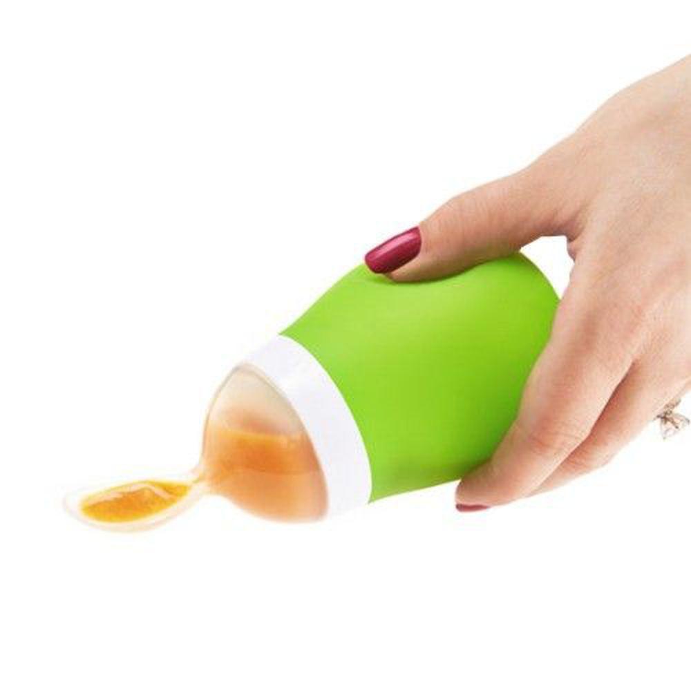 美國 munchkin - 擠壓式餵食湯匙-綠 (4M+)