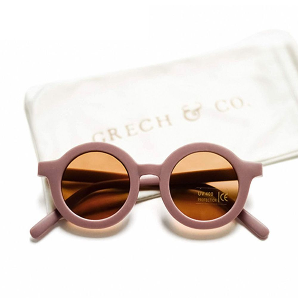 丹麥GRECH&CO - 兒童太陽眼鏡-經典款-藕粉-18個月至6歲