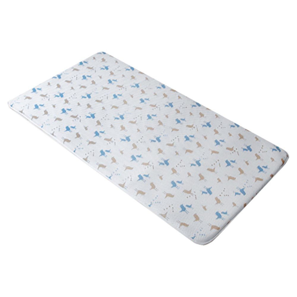 舒福家居 isufu - 3D Airmesh 透氣嬰兒床墊-單入組-Happy Birds-藍色-無枕