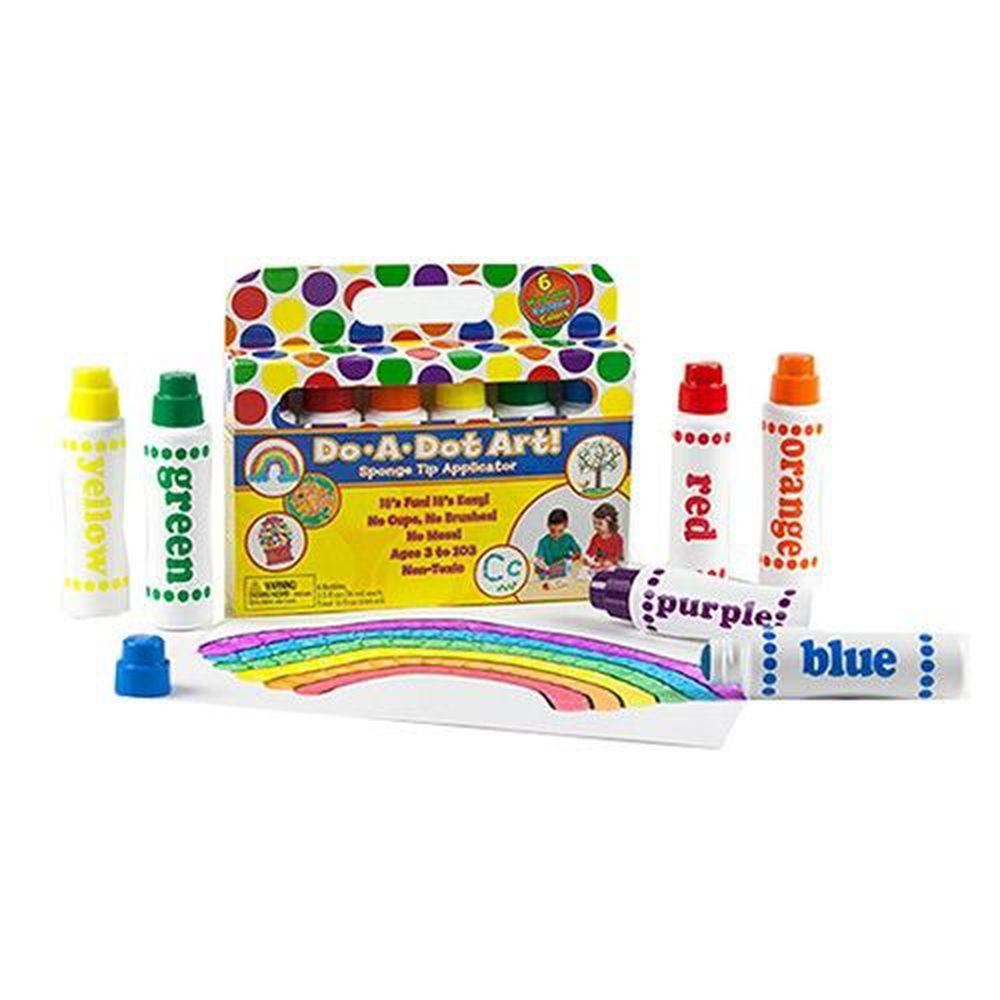 美國 Do A Dot Art - 點點畫筆-6入彩虹色-70ml/每支