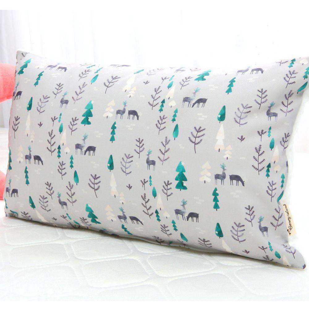 韓國 Coney Island - 雙面材質抗菌防蟎水洗枕頭-寧靜森林 (50X30cm)-枕套*1 + 枕芯*1
