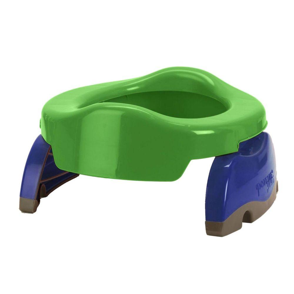 美國 Potette Plus - 可攜式馬桶-綠色