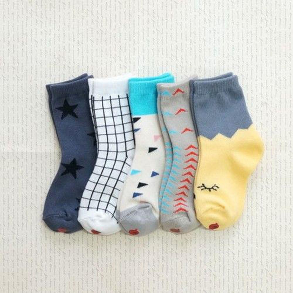 韓國 Kokacharm - 韓國製踝襪-五件組-Lululu socks