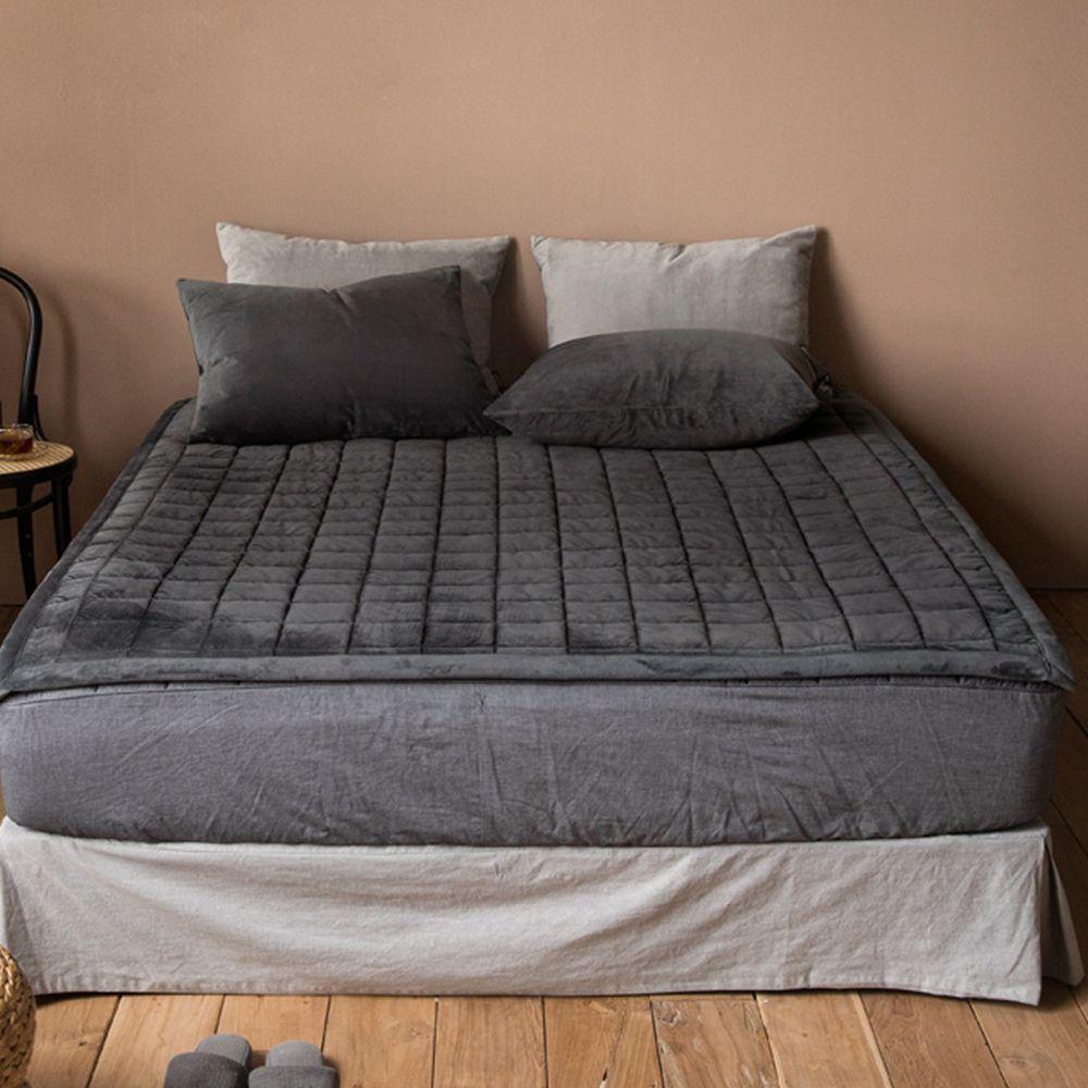 韓國製 - (*2月初出貨)可水洗超細纖維保潔墊/睡墊-質感灰