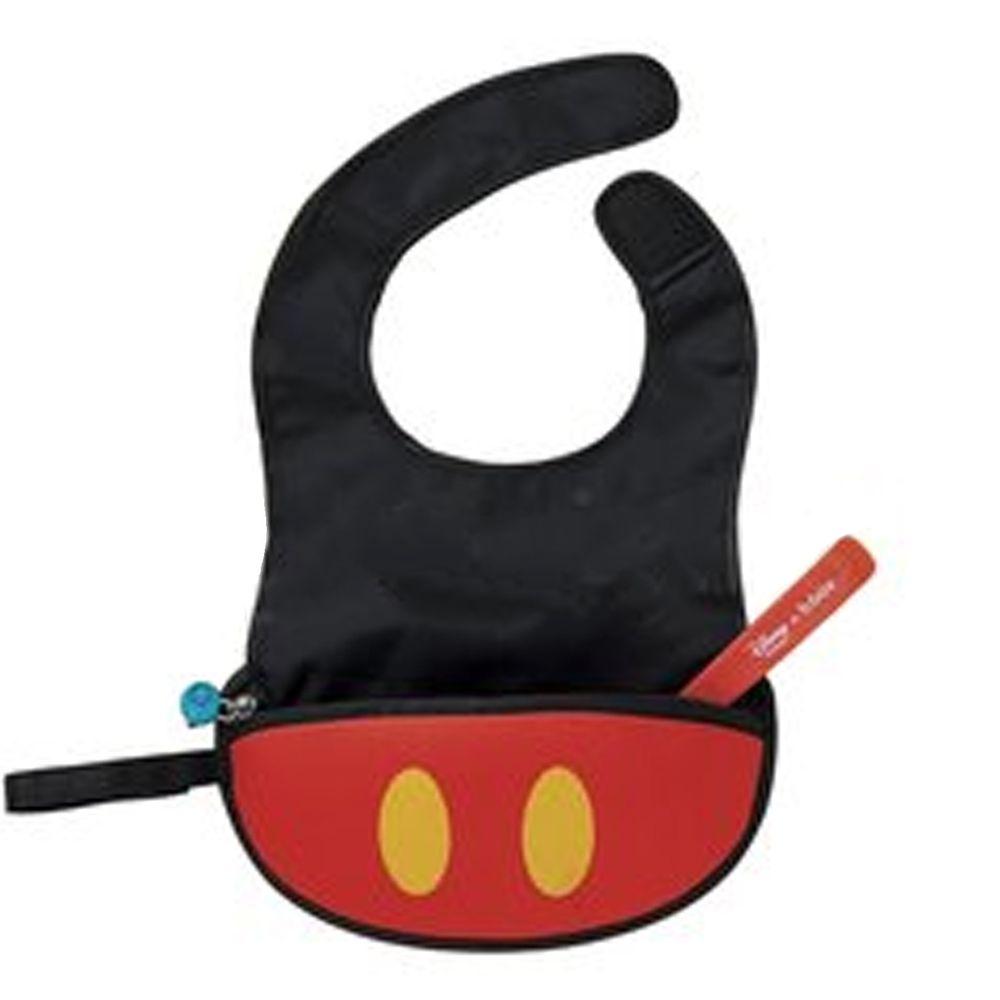 澳洲 b.box - 迪士尼旅行圍兜袋-米奇-含矽膠軟湯匙*1
