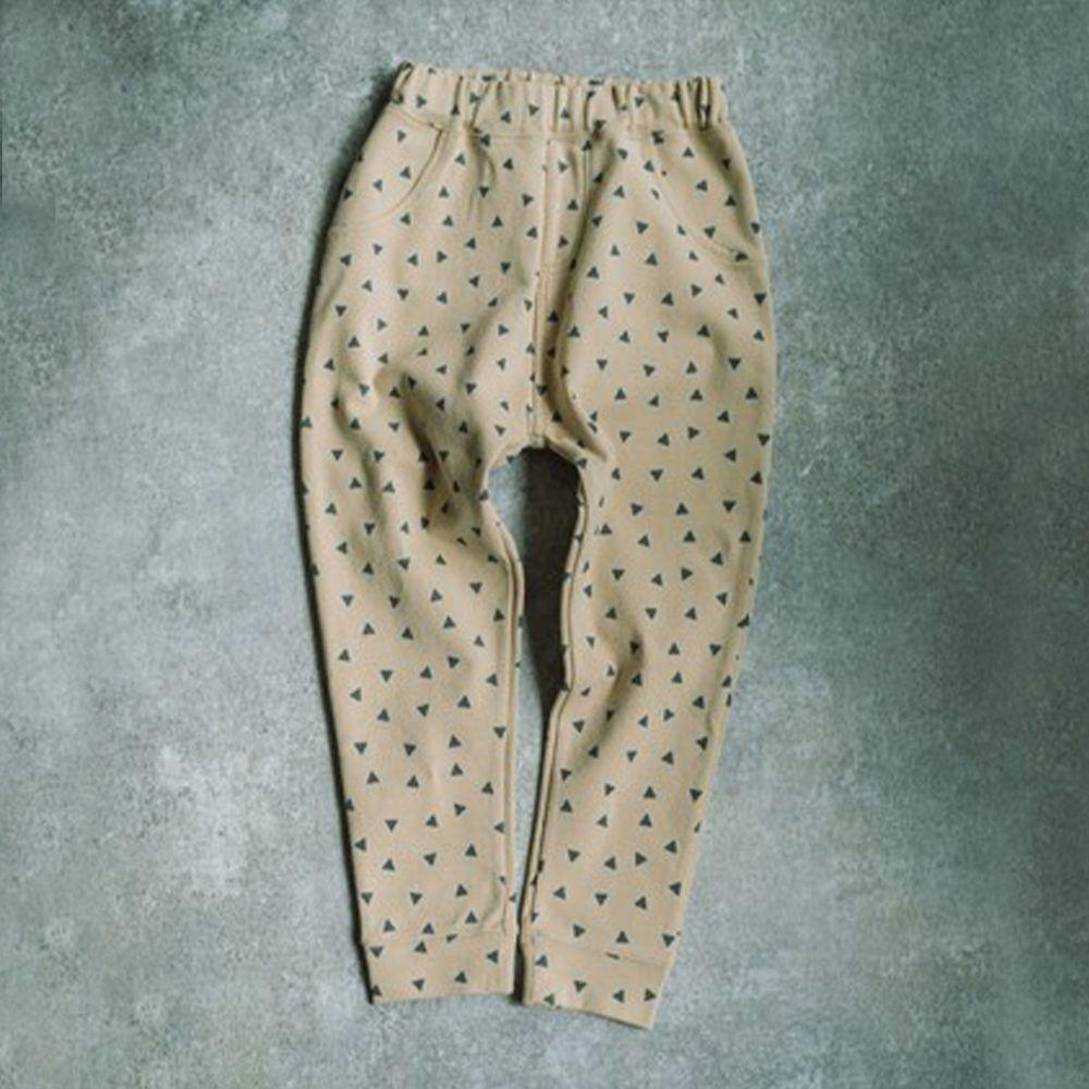 日本 PAIRMANON - 百搭彈性口袋長褲-三角形-杏