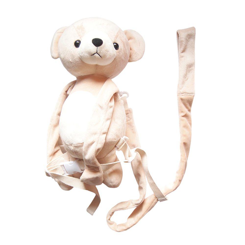akachan honpo - 防走失背包-小熊-淺卡其色