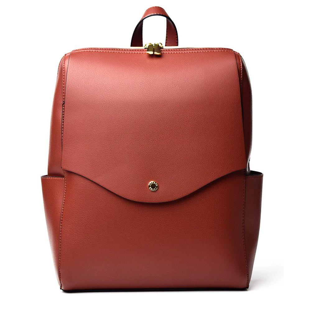 日本 Legato Largo - 輕量PU時尚大容量後背包-RBR紅棕 (23x32x10cm 後背約51~94cm)
