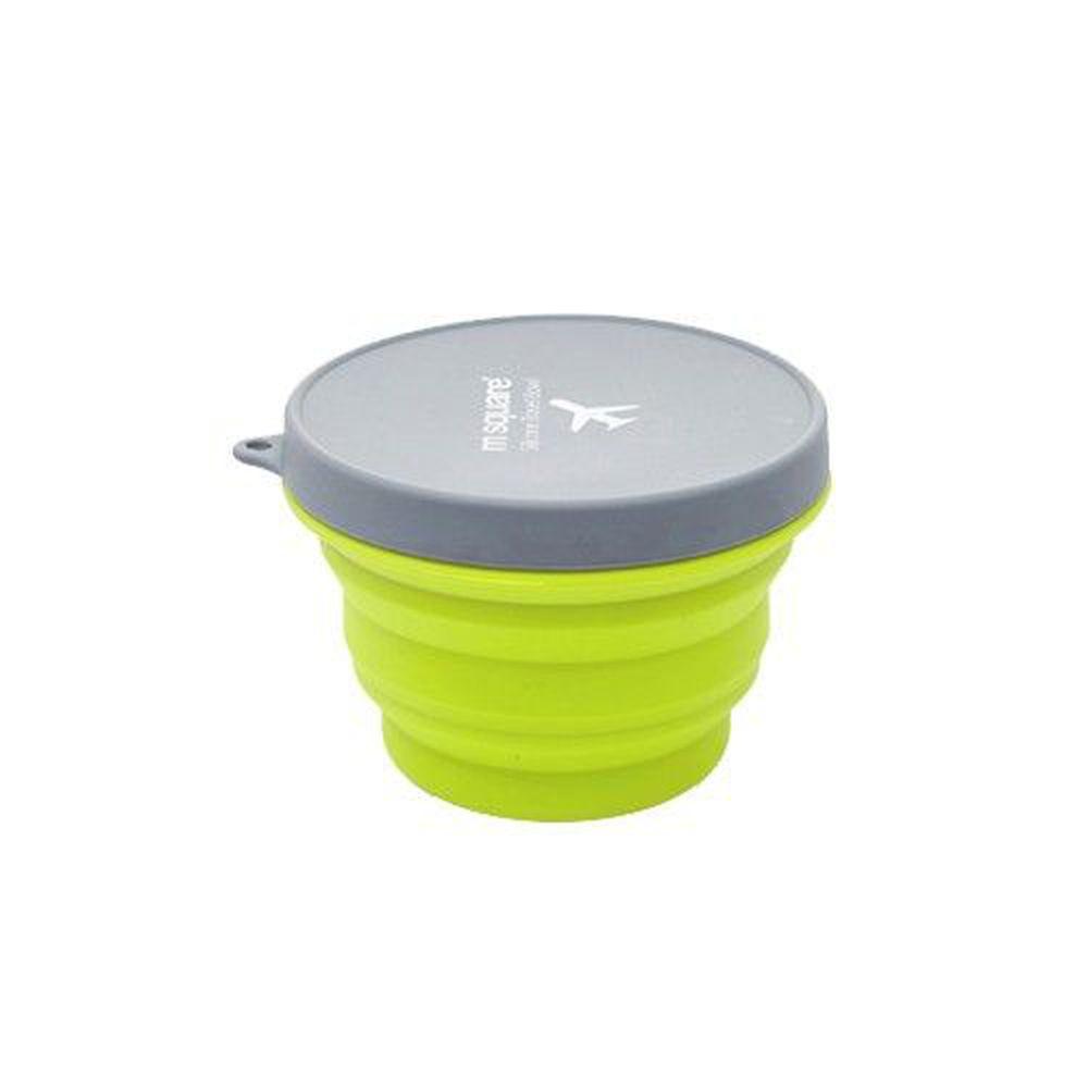 m square - 摺疊矽膠碗 M-綠色-500ml