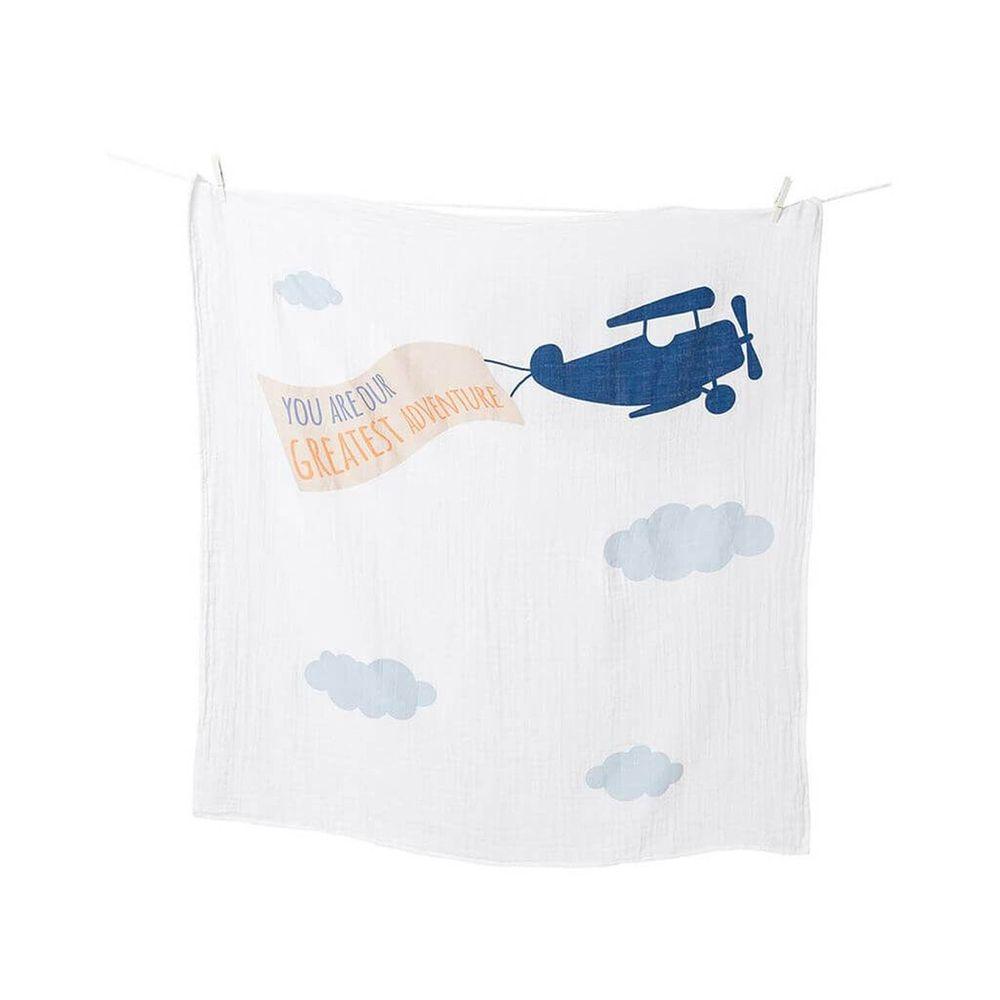 加拿大 lulujo - 寶寶成長包巾卡片組-飛機