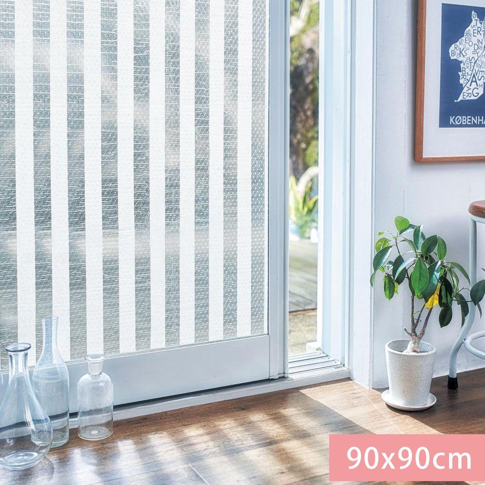 日本千趣會 - 日本製 95%抗UV光影窗貼(氣泡黏貼式)-直條紋