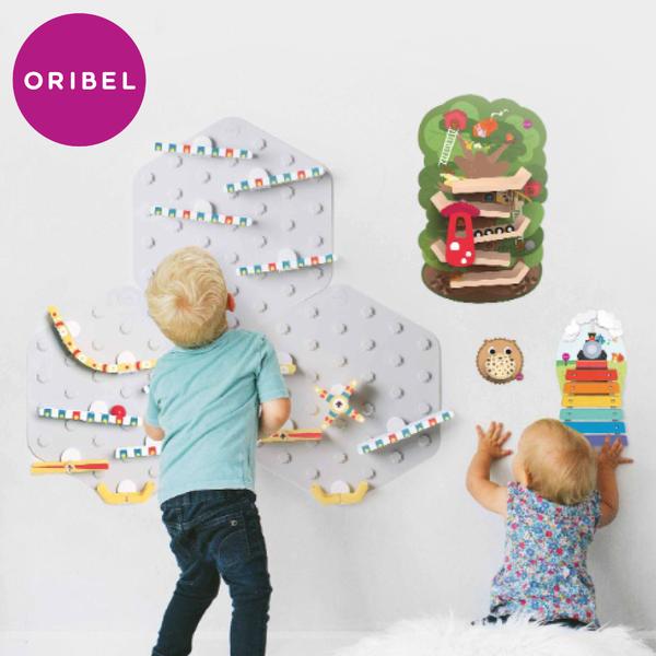 貼在牆上想玩就玩!免收拾【新加坡Oribel壁貼玩具】