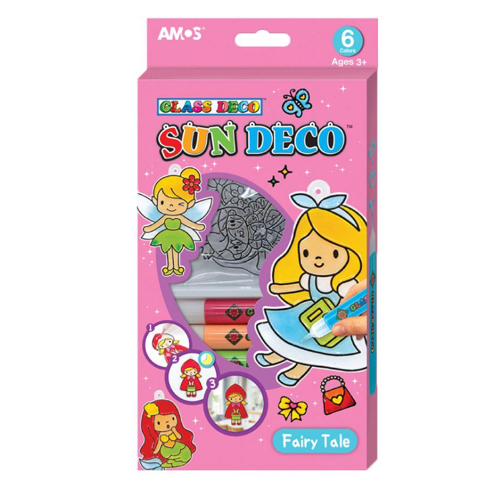 韓國 AMOS - 6色女孩主題吊飾玻璃彩繪膠