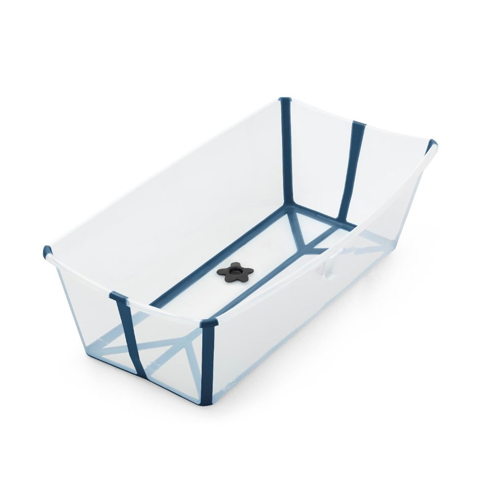 Stokke - Flexi Bath 折疊式浴盆-X-Large-加大版-透明藍色
