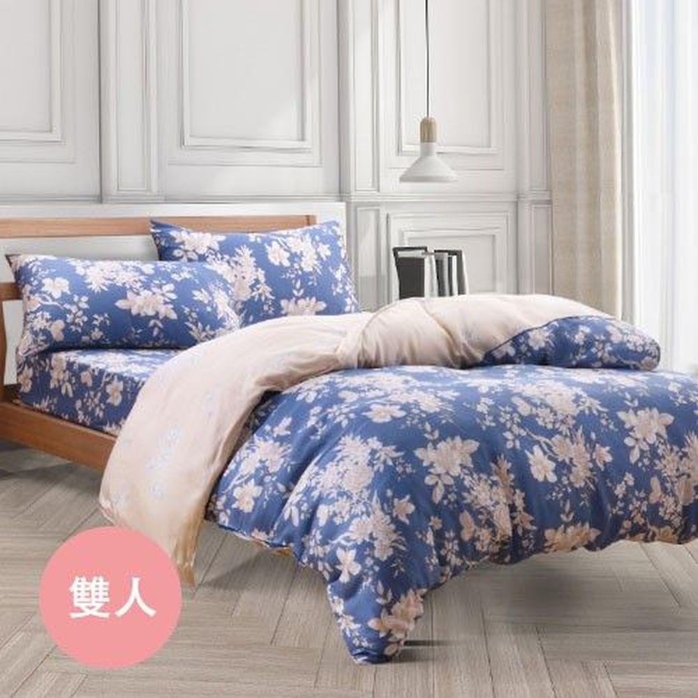 梵蒂尼 Famttini - 頂級純正天絲兩用被床包組-雙人-蘭香花夢