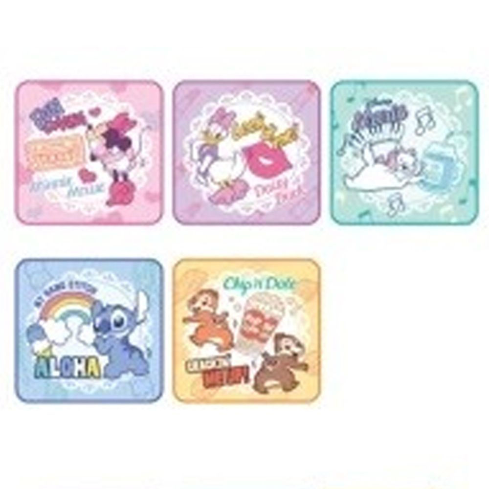 日本代購 - 卡通方形小手帕五件組-米妮好朋友-蕾絲 (15x15cm)