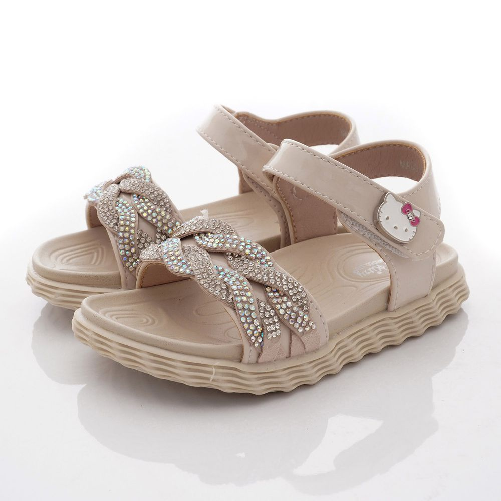 HELLO KITTY - 專櫃晶亮氣質涼鞋款(小童段)-米