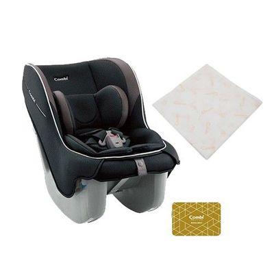 Coccoro II EG 超輕巧舒適 嬰幼童專用汽車安全座椅-買贈雙重紗布多用途浴包巾(市價值NT$650)-莓果黑-新生兒0歲起~4歲(18kg以下)