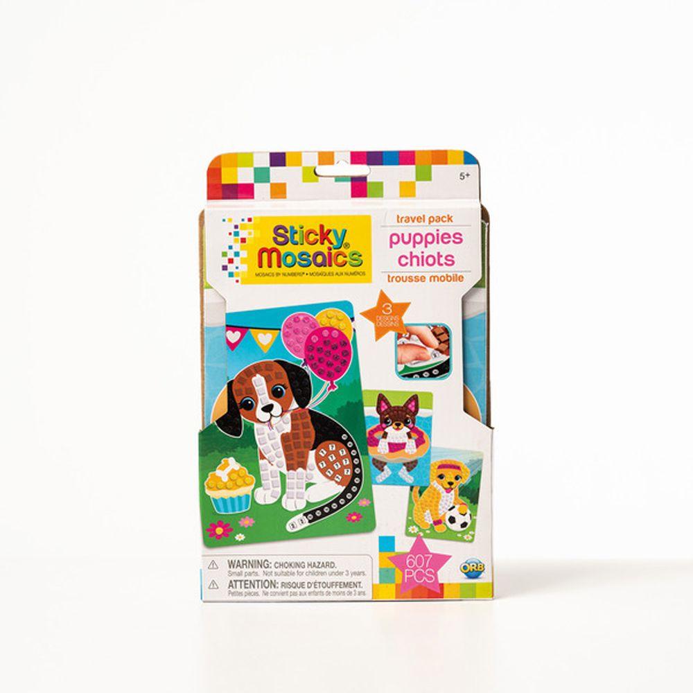 加拿大 Sticky Mosaics - 馬賽克拼貼旅遊包-家有小狗-607 pcs