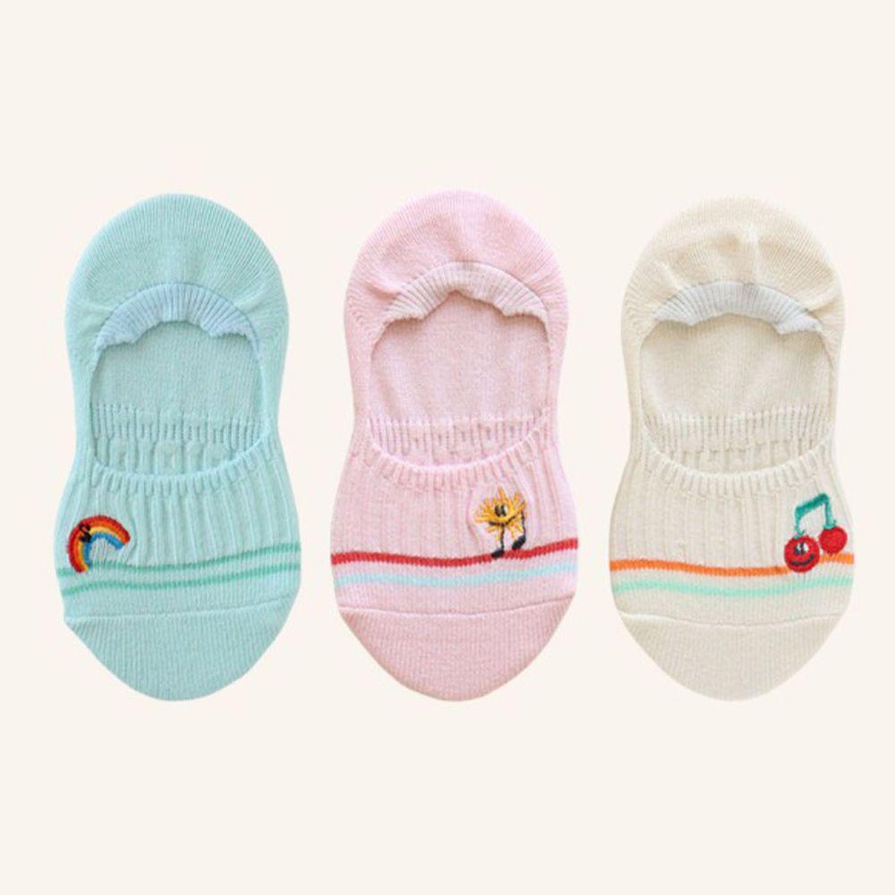 韓國 Kokacharm - 韓國製船型襪-三件組-SUMMER SONG