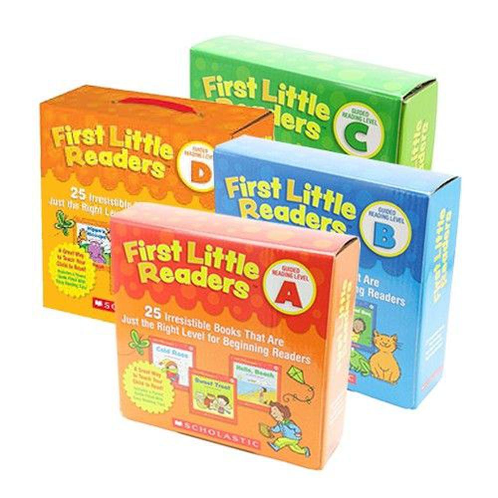 Scholastic - 【超值合購】我的第一套小小閱讀文庫First Little Readers Level A+B+C+D-四盒