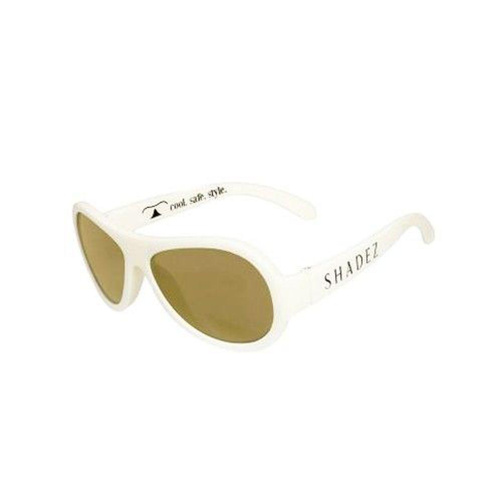 SHADEZ - 可彎折嬰幼兒時尚太陽眼鏡-純淨白