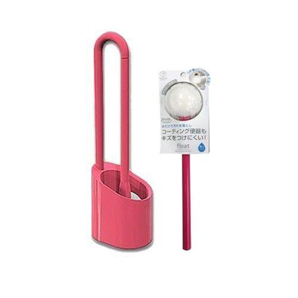 日本 YOKOZUNA - 磁吸式馬桶刷-加購替換刷組-桃紅