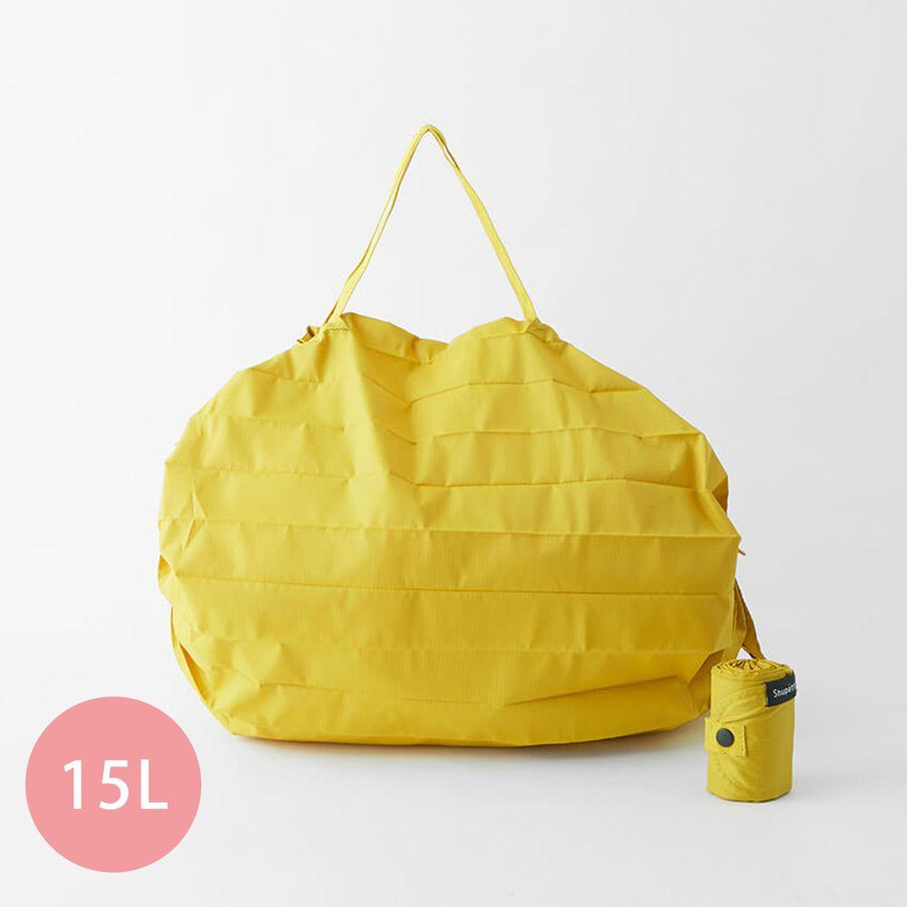日本 MARNA - Shupatto 秒收摺疊購物袋-五週年限定升級款-暖陽黃 (M(30x35cm))-耐重5kg / 15L