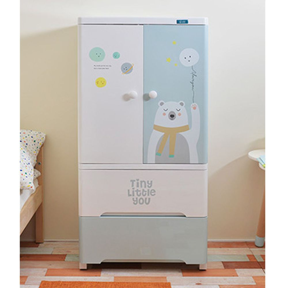 家窩 - 貝格雙開門式兒童吊掛衣櫃-DIY-熊愛星球