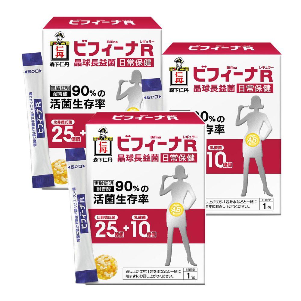 日本森下仁丹 - 25+10晶球長益菌-日常保健3盒組(30條/盒)-學齡前後3盒組