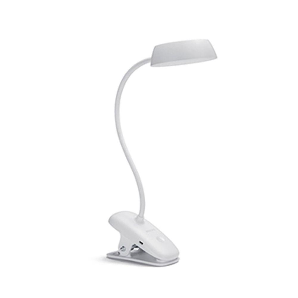 PHILIPS 飛利浦照明 - 酷皓 LED USB 充電夾燈 66138-PD005-白