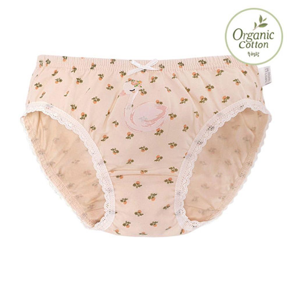 韓國 Ppippilong - 有機棉透氣三角褲(女寶)-天鵝女王