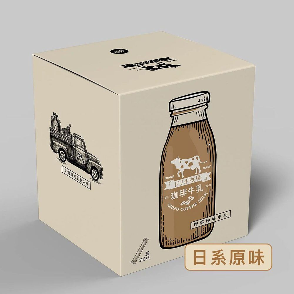 Dripoドリポ - 牧場咖啡牛乳即溶飲品(日系原味)-16gx25條