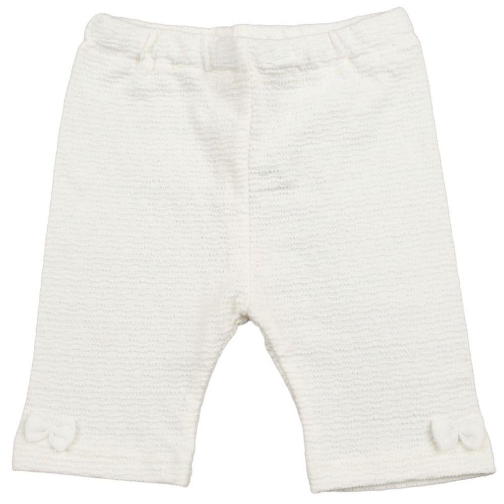 akachan honpo - 5分內搭褲-白色