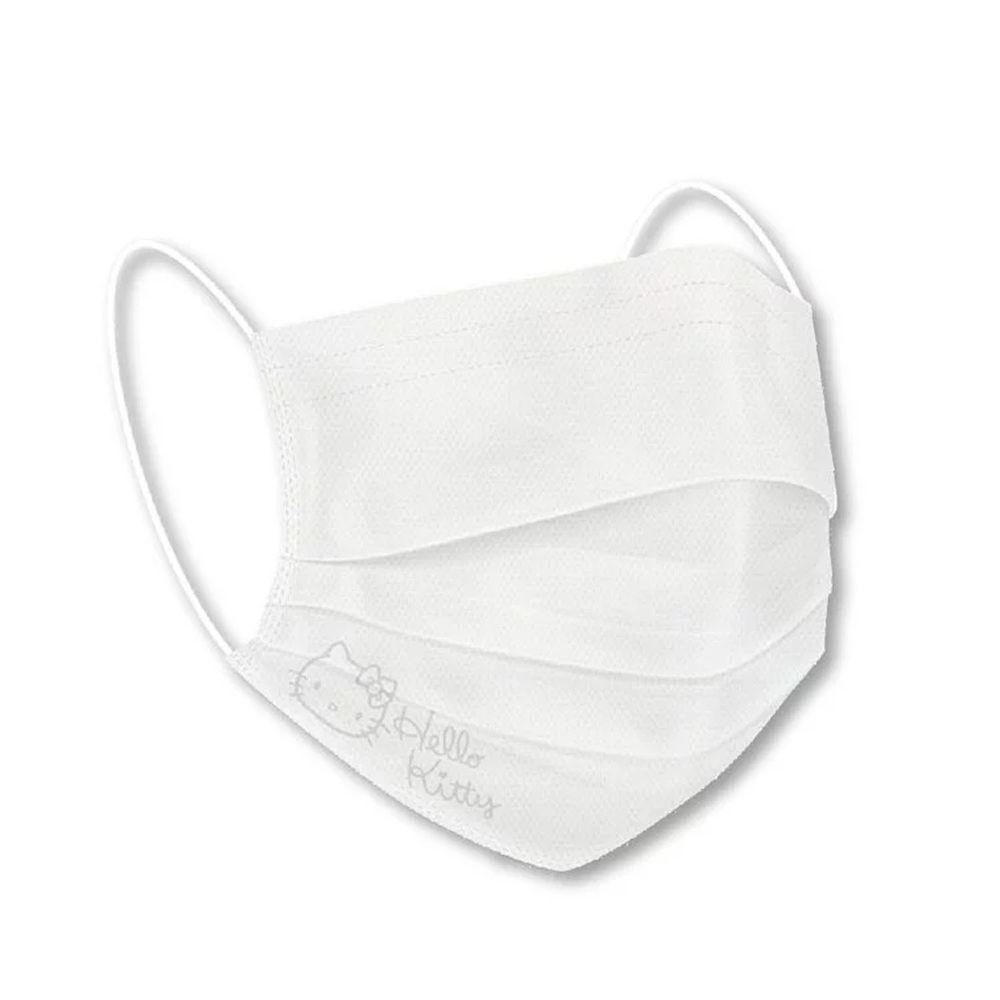 Hong Man - 三麗鷗系列涼感透氣口罩/白色鋼印-Hello Kitty 經典款 (17.5x9.5cm)-20入/單片獨立包裝