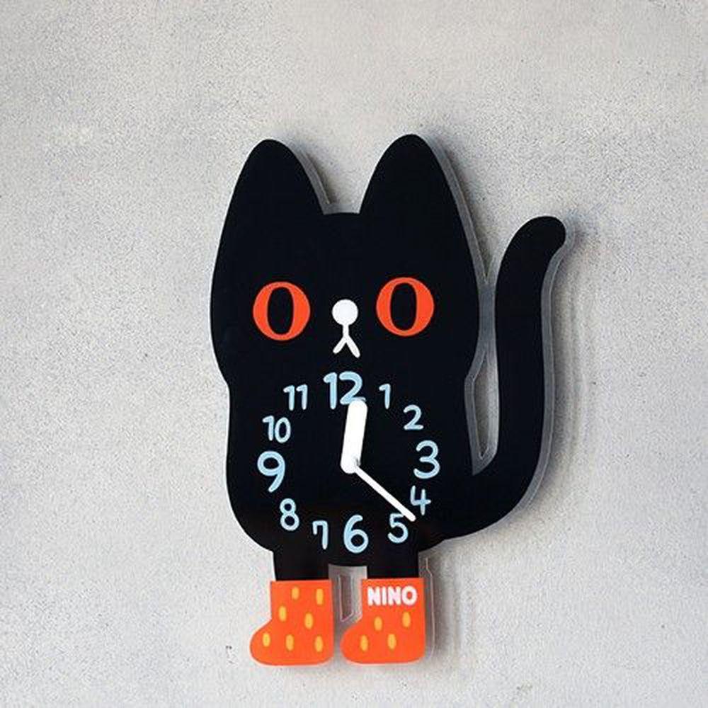 韓國 NINO - 韓國NINO HapPy TimE童趣時鐘-小黑貓吉吉 (24.5*35cm)