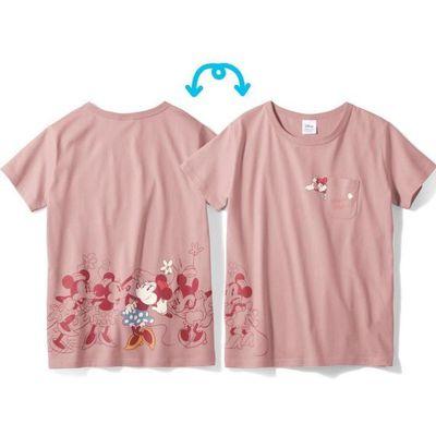 米妮連續動作短袖T恤-媽媽-粉紅 (LL)
