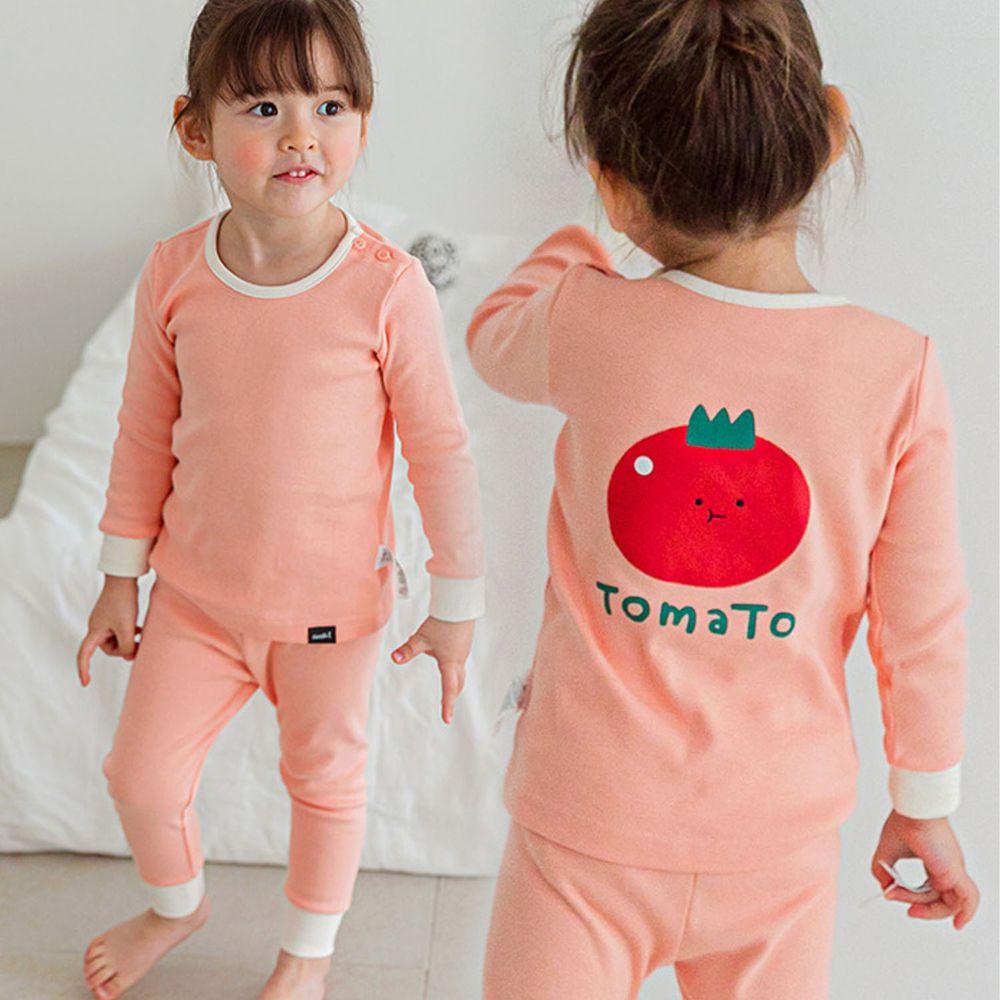 韓國 Cordi-i - 20支無螢光棉長袖家居服-紅紅番茄