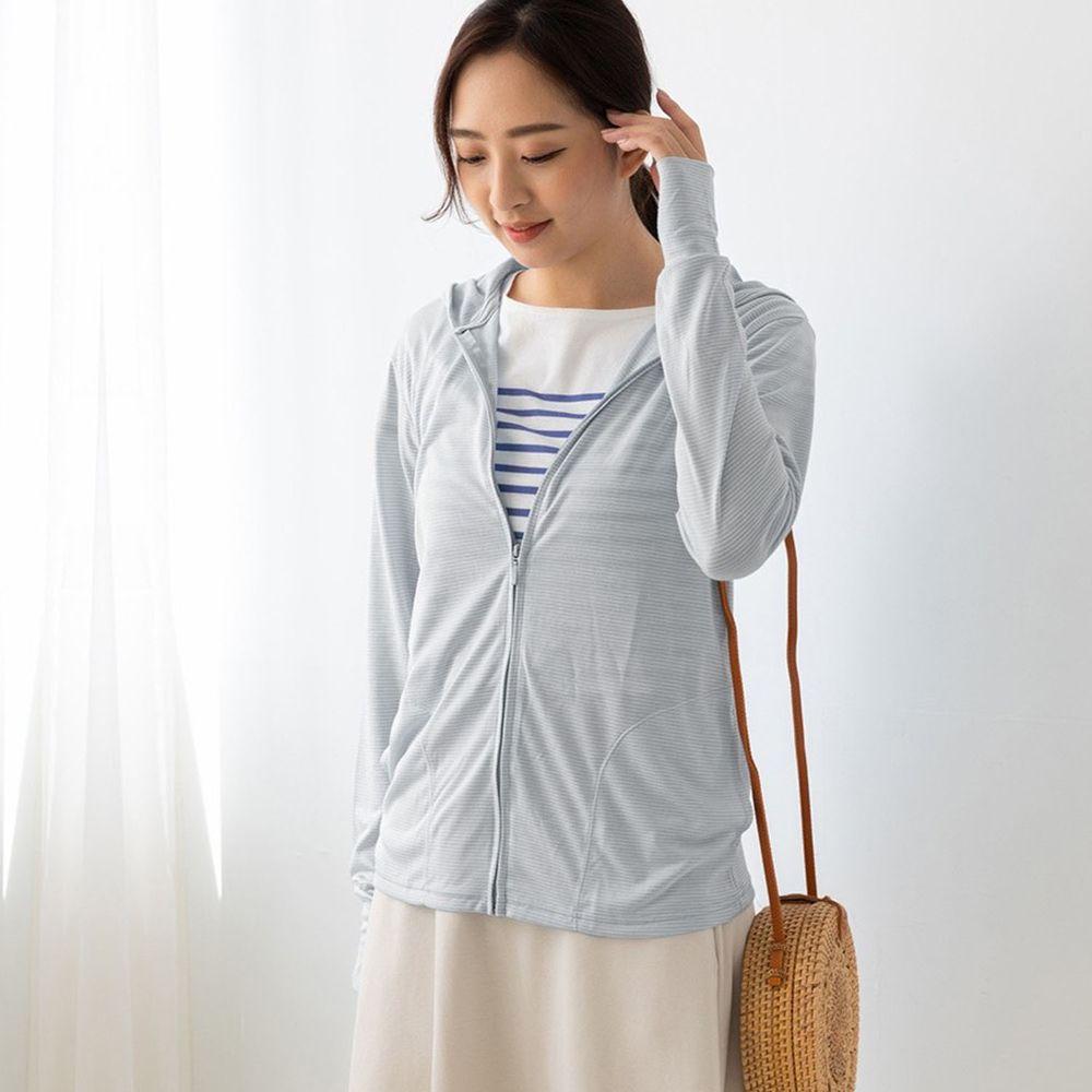 貝柔 Peilou - 日本水潤白抗UV保濕防曬外套-時尚灰