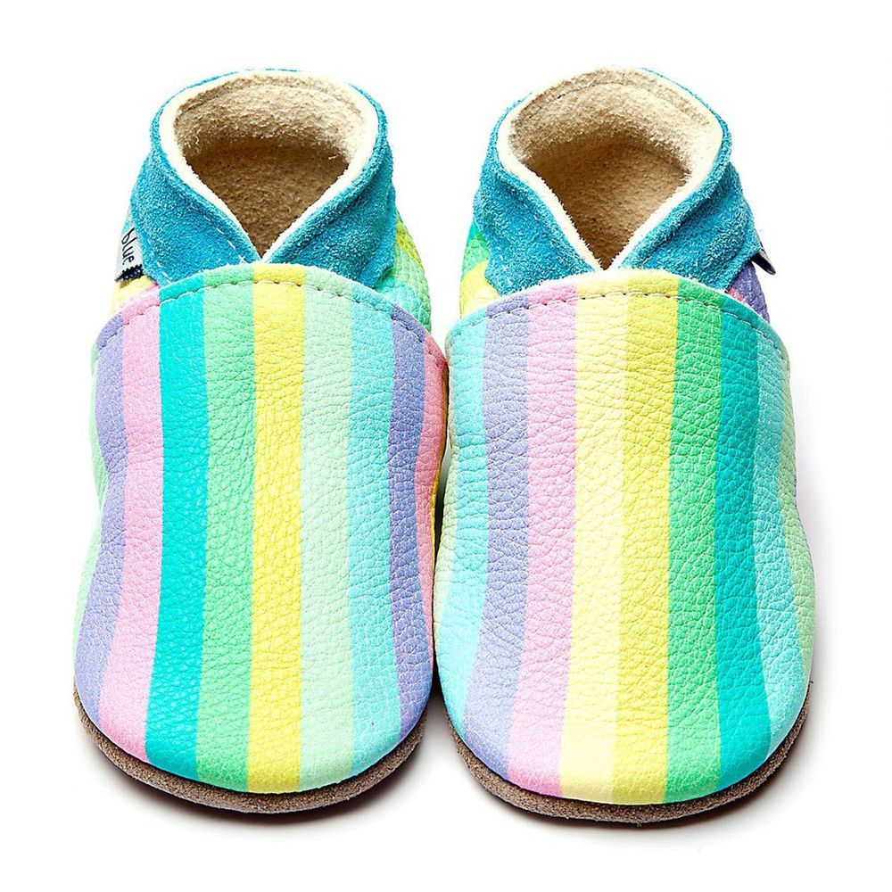 英國Inch Blue - 寶寶學步鞋-馬卡龍彩虹
