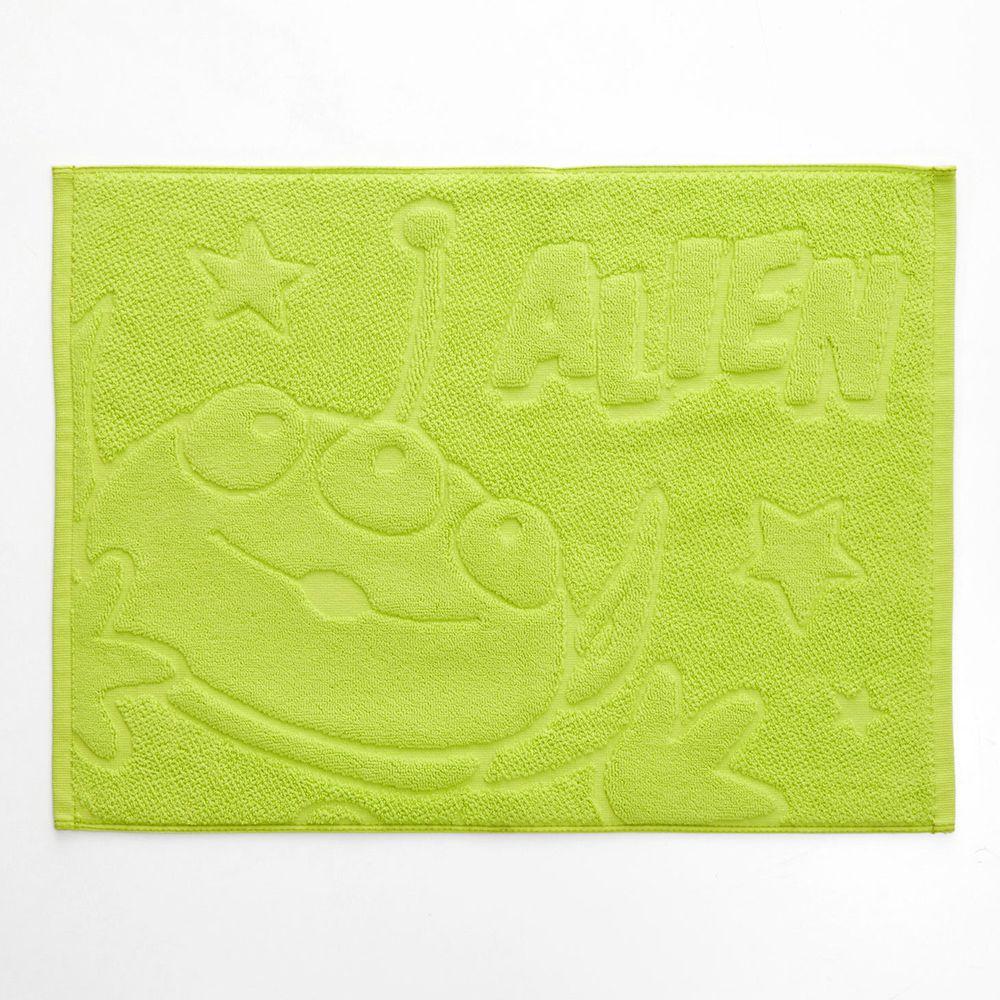 日本千趣會 - 迪士尼 純棉吸水毛巾腳踏墊-三眼怪-青綠 (45*60cm)